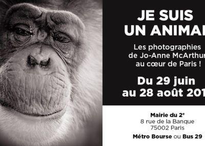 Du 29 juin au 28 août – Exposition «Je suis un animal» à Paris