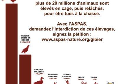 """""""Stop aux élevages d'animaux pour la chasse"""""""
