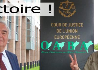 """Victoire de l'OABA : """"L'abattage sans étourdissement, incompatible avec le label Biologique"""""""