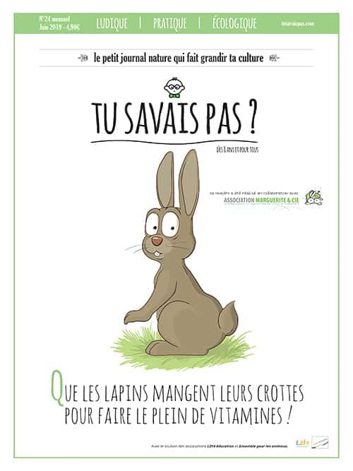 TU SAVAIS PAS ? n°24 Que les lapins mangent leurs crottes pour faire le plein de vitamines !