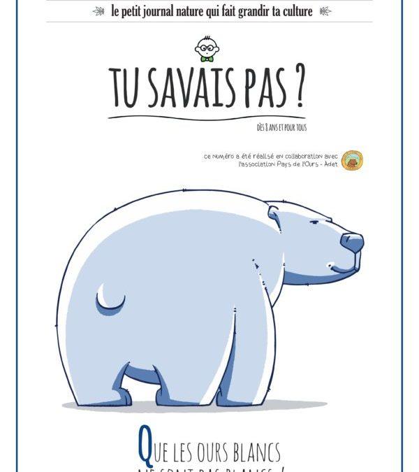 TU SAVAIS PAS? n°31 Que les ours blancs ne sont pas blancs !